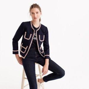 NWOT. Rare! J. Crew Lady jacket with tweed trim